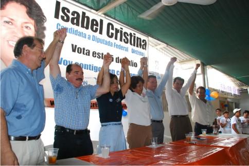Isabel cierra campañaa