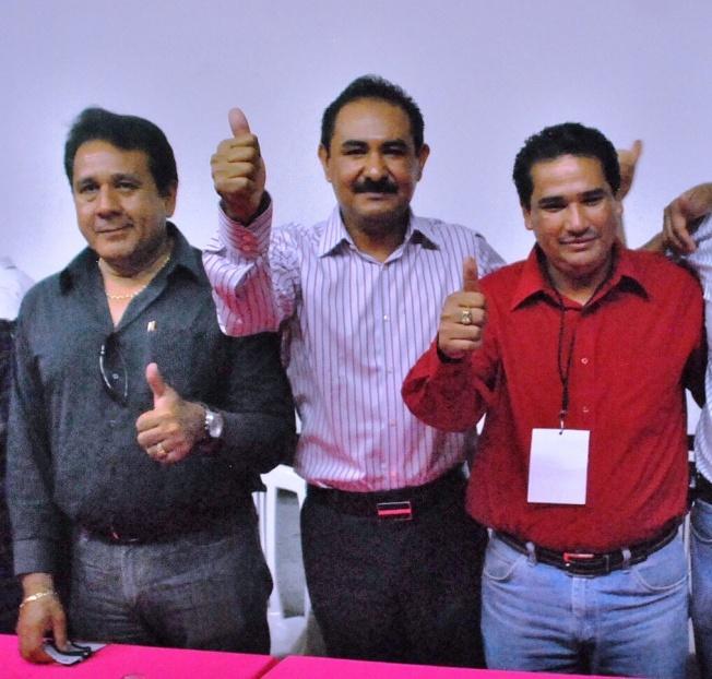 Diputado local, Salomón Fernández; Diputado Federal, Rodimiro Barrera  y alcalde de Mújica, Casimiro Quezada.