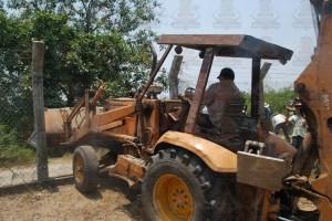acceso liberado por ejidatarios y autoridades agrarias con maquinaria