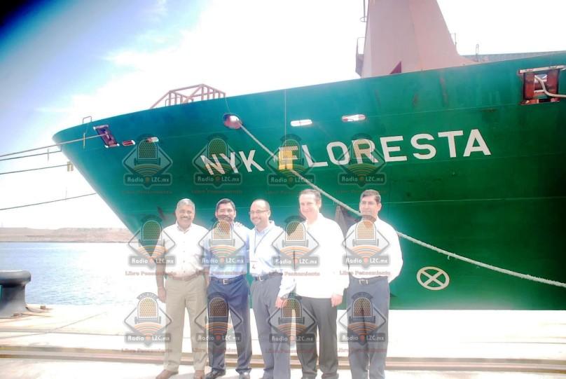 Directivos del Puerto reciben al primer buque de línea naviera NYK Line
